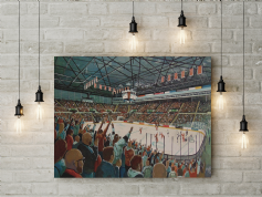 sheffield arena  canvas a3 size